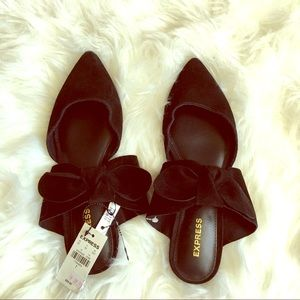 NWT Express leather pointy bow flats size 7